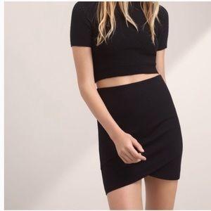Black Aritzia Talula Primrose Skirt